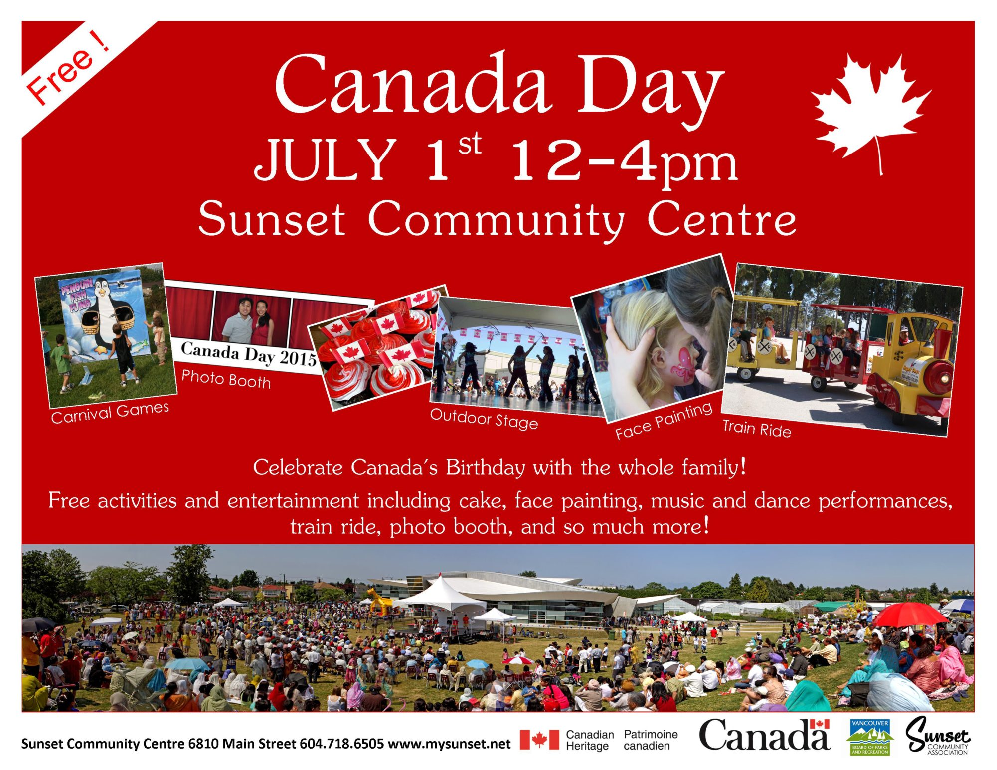 Canada Day Event at Sunset Community Centre