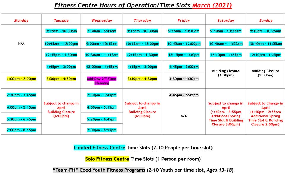 FROM SUNRISE TO SUNSET! Starting in March the Fitness Centre will be open from 7:30am - 8:30pm on Wednesdays. Be sure to book your sessions as early as 3 days in advance @mysunset.net