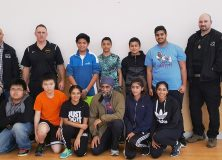 Game Ready Program and a special guest visitor, Minister Sajjan play basketball.