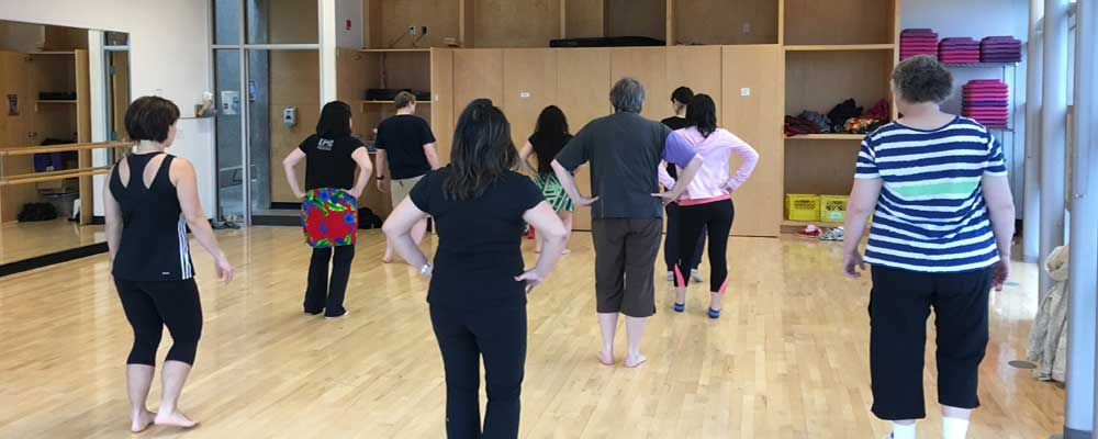 Group Aerobics Class in the Dance Studio